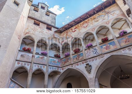 Courtyard Of Castle Proesels
