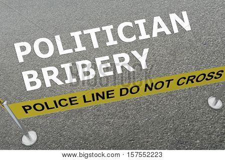 Politician Bribery Concept