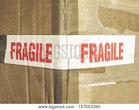 Vintage Looking Fragile Picture