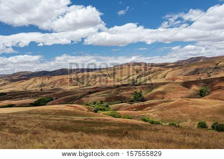 Traditional Madagascar Hill Landscape