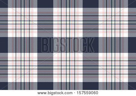 Seamless check shirt fabric texture. Vector illustration.