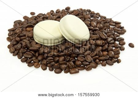 Coffee Beans And Cookie
