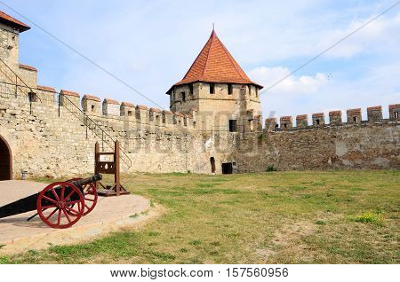 fortress in Bender, Moldova Republic of Transnistria - October 01 2016. Old fortress on the river Dniester in town Bender Transnistria. City within the borders of Moldova under of the control unrecognized Transnistria Republic