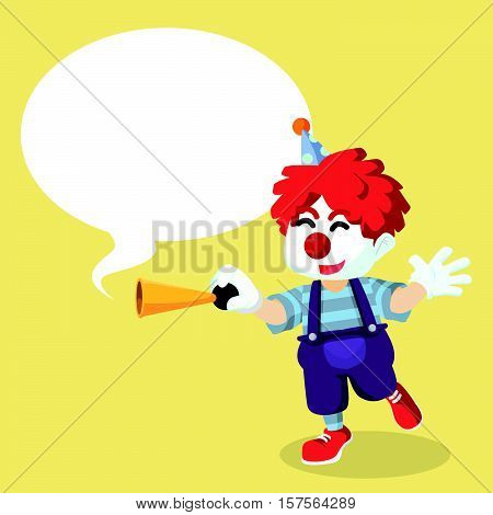 clown honkinh with callout vector illustration design eps 10