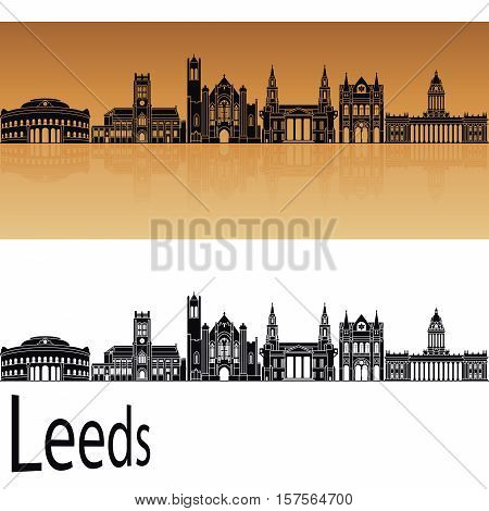 Leeds V2 Skyline In Orange