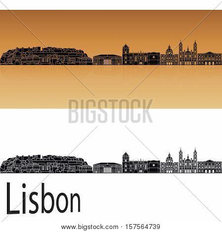 Lisbon V2 Skyline In Orange