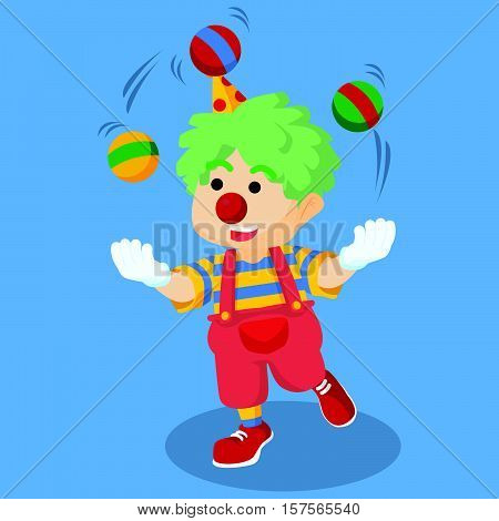 A clown juggling 're Playing eps10 vector illustration design