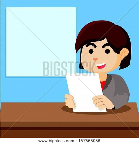 girl news anchor vector illustration design eps 10
