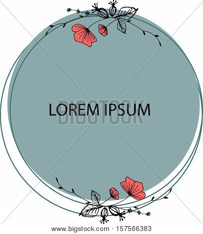 vector frame with flowers, which can be used in invitations, postcards and flyer