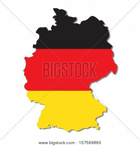 Germany vector map with the flag inside.