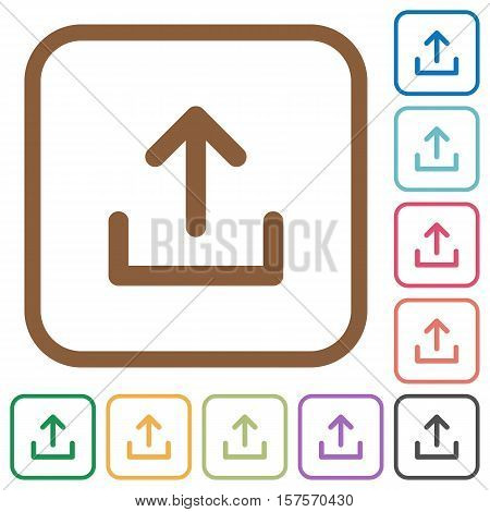 Upload Simple Icons Vector & Photo (Free Trial) | Bigstock