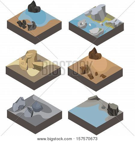 isometric landscape 3d design for game nature color