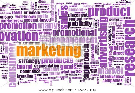Marketing Terminology as a Abstract Background