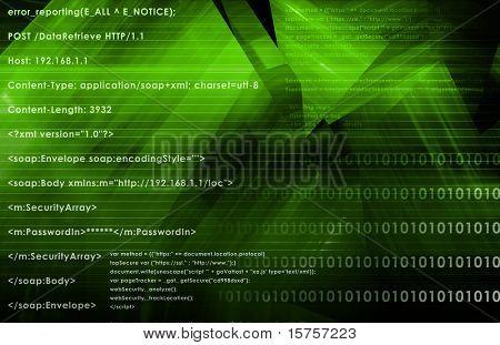 Web Application Logic on Internet as Background