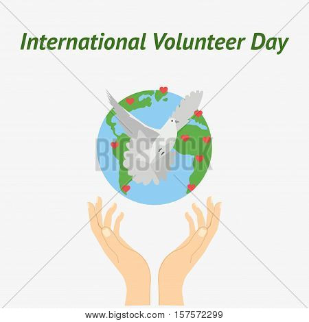 Vector Illustration For International Volunteer Day