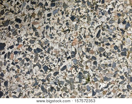 Old texture Terrazzo Floor, polished stone pattern background