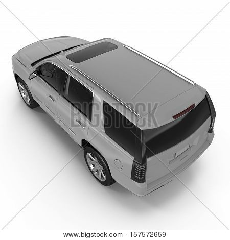 Silver RAV isolated over white background. 3D illustration