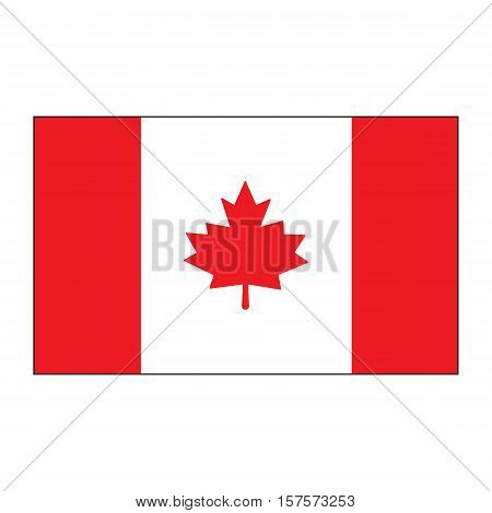 A Canada flag.National flag of Canada.vector illustration