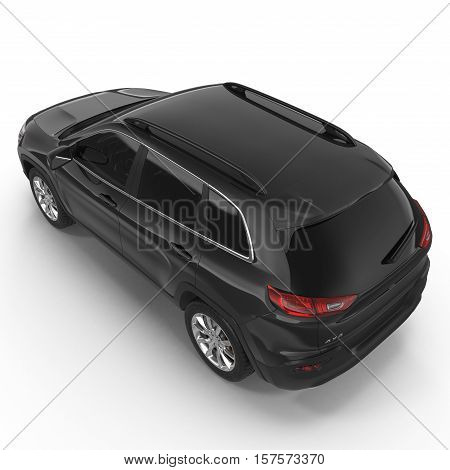 luxury 4x4 suv car isolated on white background. 3D illustration