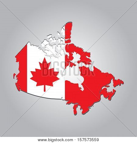 Map of CANADA with separable borders in vector art. Sizable to any dimension - You got ALL the provinces in one file