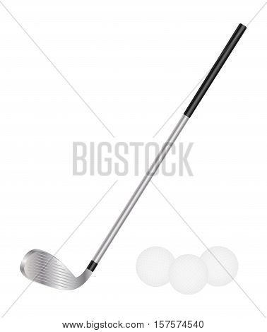 Golf Club And Golf Ball on a white background