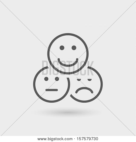 appreciation and testimonials thin line icon black color isolated