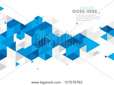 Vector of modern abstract triangular background
