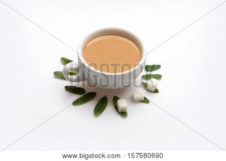 Cup With Coffee, Cappuccino Or Latte
