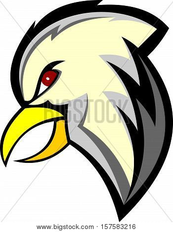 stock logo illustration cartoon head eagle bird