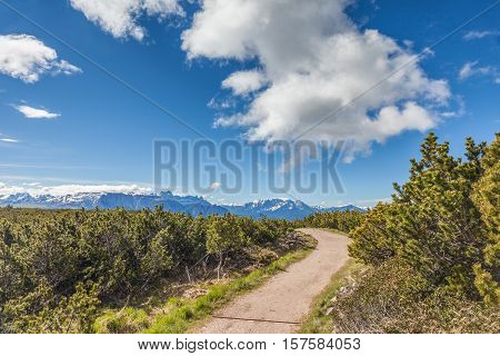 Panorama Path On The Schwarzseespitze (2069 M)