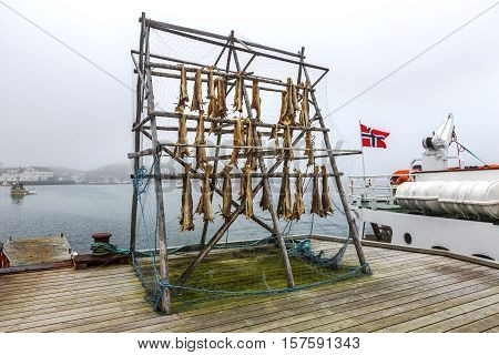 Rack Full Of Dried Codfish