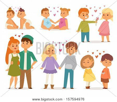 Happy smiling couple in love vector characters togetherness. Couple in love romantic woman together adult relationship. Female lifestyle beautiful happiness couple in love characters.