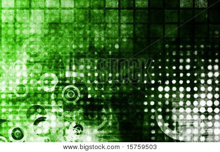 poster of Abstract Grunge Background With Digital Media Art