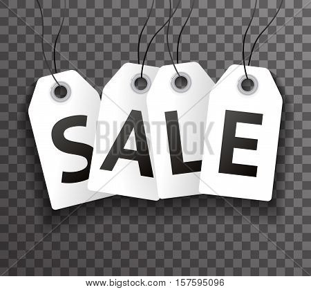 Price Sale Text Symbol Labels Icon Transperent Background Vector Illustration
