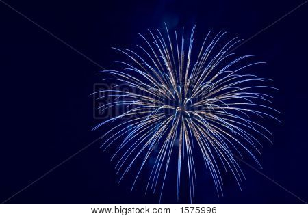 Blue Firework Explosion