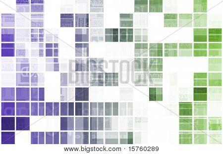 Web Background Modern Data as a Art