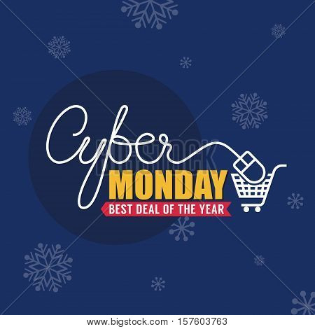 Cyber Monday Sale Background for Good Deal Promotion. Cyber Monday Banner and Label for Website.Vector illustration