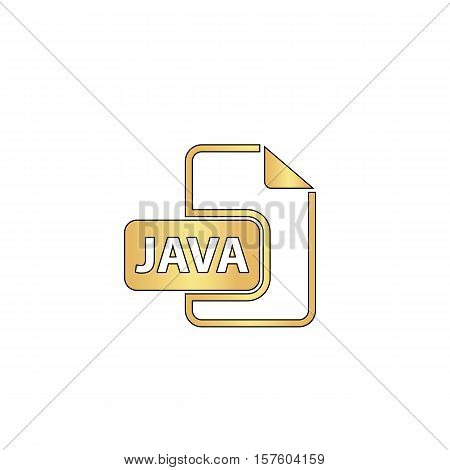 JAVA Gold vector icon with black contour line. Flat computer symbol
