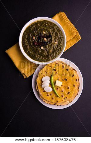 makki di roti and sarson ka saag, famous north indian food