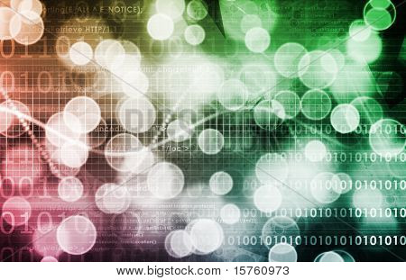 Digital Abstract Data Media As a Art poster