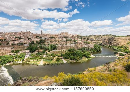 Toledo beside the Tagus River - Spain