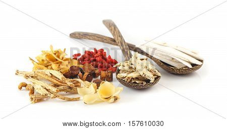 Group Of Chinese Medicine Herbs