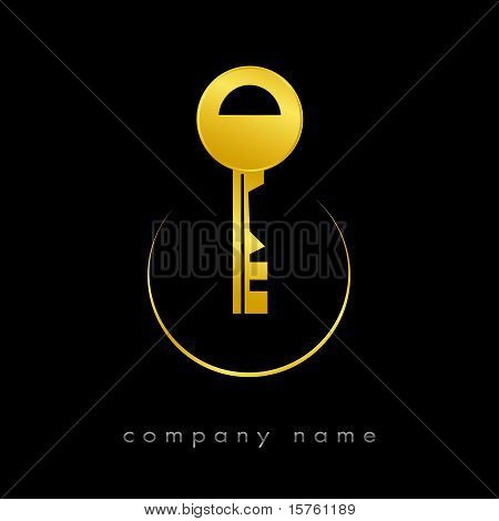 Logotype For Real Estate In Gold