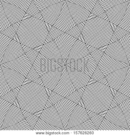 Seamless triangles and polygons pattern. Textured background. Vector art.