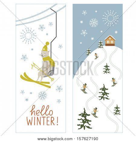 Christmas banners, Ski resort