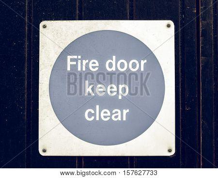 Vintage Looking Fire Door
