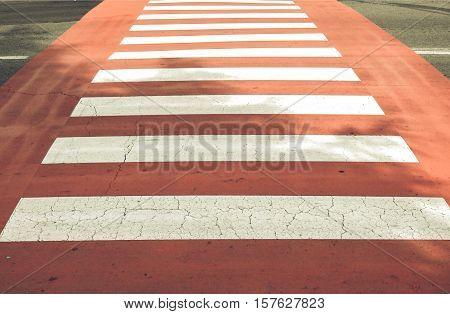 Vintage Looking Zebra Crossing