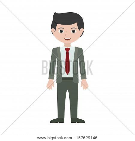 man young with formal suit, vector illustration