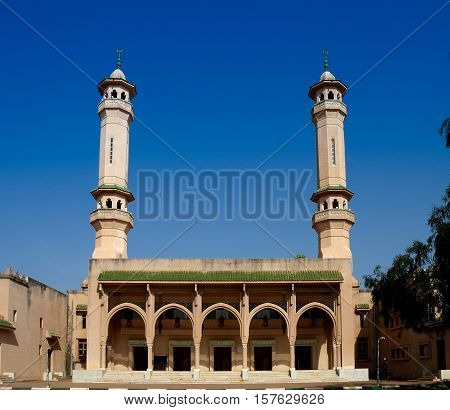 Exterior view King Fahad Mosque in Banjul Gambia