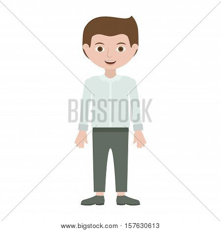 man with formal shirt and pants vector illustration